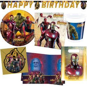 Avengers Infinity War Kindergeburtstag Deko Party Dekoration Geburtstag NEU
