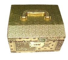 Golden Designer Bangle Storage Box Vanity Wedding Jewellery Case with mirror