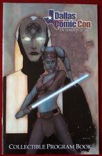 Dallas Comic Con Program - Star Wars Aayla Secura Cover Art By Phil Noto - Rare