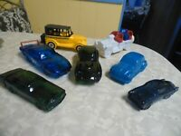 7 Avon Collector Car Glass Decanters