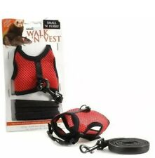 Small Walk Vest Harness & Lead For Dog Pet Rabbit Ferret Breathable Mesh Vest UK
