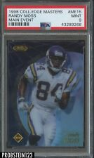 1998 Collector's Edge Masters Main Event Randy Moss  RC Rookie /2000 HOF PSA 9