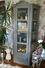 Solid Pine display cabinet, larder, Glass front