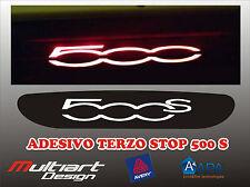 ADESIVO STICKERS PER TERZO STOP FIAT  500 S