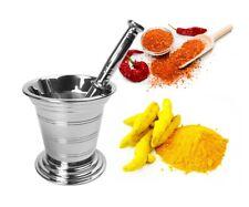 Cuisine Acier Inoxydable Mortier et Pilon Set Épices Broyeur Pharmacie Bol B-01