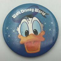 "Vintage 3"" Donald Duck Walt Disney World Button Pin Pinback WDP Y4"
