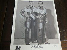 THE WILBURN BROTHERS VINTAGE SIGNED 8 X 10