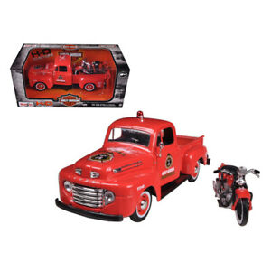 1948 Ford F-1 Pickup Truck Harley Davidson Fire Truck and 1936 El Knucklehead...