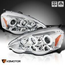 2002-2004 Acura RSX Dual Halo Projector Headlights Left+Right