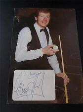 Vtg Signed Autograph JOHN SMITHS Photo STEVE DAVIS World Snooker Champion