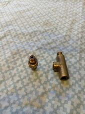 Original Brass Oil Pressure Gauge T Piece (Classic Innocenti Mini?)