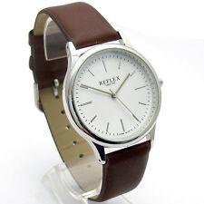 """Reflex Moderno Y Elegante Para Hombre Caballeros """"Reloj Cuarzo Dial Blanco Cromo Funda ref0011"""