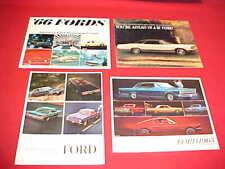1964 1965 1966 1967 FORD CAR ORIGINAL DEALER SALES BROCHURE PROSPEKT LOT OF 4
