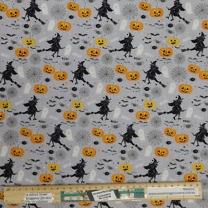 Patchwork Quilting Sewing Fabric HALLOWEEN WITCHES 50x55cm FQ New