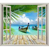 Sticker fenêtre trompe l'oeil Les Tropiques réf 5481 5481