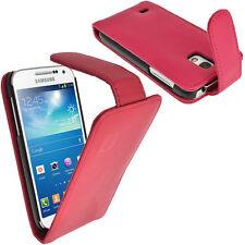 Pink Rosa Leder Tasche für Samsung Galaxy S4 SIV Mini I9190 I9195 + Schutzfolie