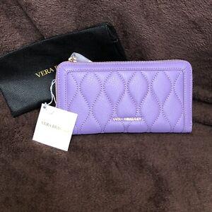 Vera Bradley ~ Georgia Wallet ~ Lavender ~ Sycamore Leather ~ New