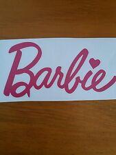 Barbie STICKER HOT PINK  OR WHITE CAR STICKER 90mm