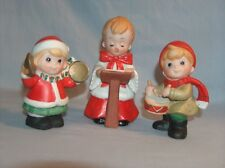 Homco Home Interiors Christmas Choir Boy Girl & Boy with Musical Instruments