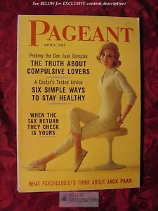 PAGEANT April 1962 Ziva Rodann Telly Savalas Origami Jack Paar Caribbean