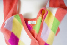 P315/12 Vintage United Colors of Benetton Italy Soft Colorfull Cardigan, UK12/14