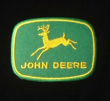 JOHN DEERE GREEN FARMER FARMING BADGE IRON SEW ON PATCH DEER DEAR
