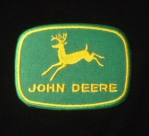 JOHN DEERE GREEN FARMER FARMING BADGE IRON SEW ON PATCH DEER DEAR