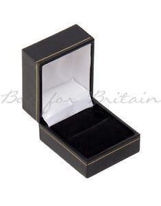 Leatherette Ring Box Black 10x,12x, 24x, 48x, 96x Ring Boxes Wholesale Price.