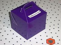 Cadbury`s  PURPLE ~~~ Single CUPCAKE ~~~ boxes 80 x 80 x 80mm