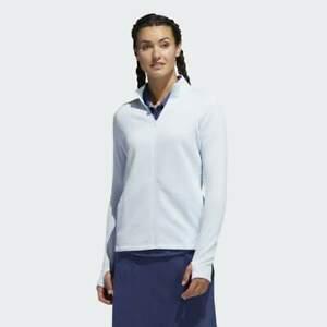 ADIDAS Ladies Textured Full Zip Layer Jacket - Sky Blue - XS - BNWT