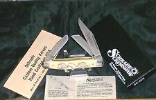 """Schrade SC505 Knife Scrimshaw """"Giorgianni Art"""" Circa-1980 USA Made 4"""" Closed NOS"""
