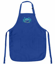 Blue Crab Apron BLUE CRABS Royal Blue APRON GREAT GIFT IDEA FOR MOM OR DAD