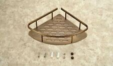 Antique Brass Bathroom Corner Shower Shelf Rack Storage Tidy Wall Basket eba520