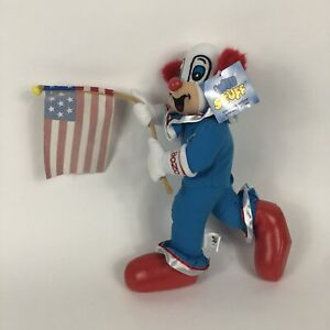 "Win Stuff Bozo the Clown 12"" Plush NWT 1999 American Flag United States Vintage"