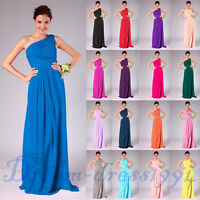 New Design One Shoulder Bridesmaid Wedding Party Formal Ball Prom Dress Size6-22
