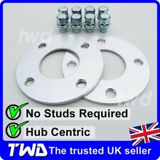 5MM (10MM) HUB CENTRIC ALLOY WHEEL SPACERS + NUTS - FORD FOCUS MK1 4x108 -SF1