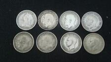 LOT OF 8 SILVER 3d (3 PENCE) COINS QUEEN VICTORIA, GEORGE V & VI VARIOUS DATES