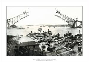 """Sydney Harbour Bridge Construction A3 Print – 1930 – 42 x 29 cm 16"""" x 12"""""""