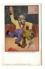 Vintage Postcard BUSY BEARS GETTING IT IN THE USUAL PLACE Spanking Dressed