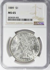"1889 MORGAN SILVER DOLLAR NGC MS-65 ""GORGEOUS"""