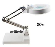 20X Magnifier LED Lamp Light Magnifying White Glass Lens Desk Table Repair