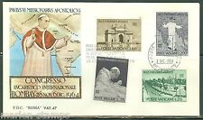 VATICAN CITY POPE PAUL VI VISIT TO BOMBAY INDIA  SC#400/03  II  FIRST DAY COVER