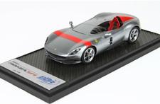Ferrari Monza SP1 Titanium Silver And Red Stripe BBR 1:43 limitiert auf 65 Stück