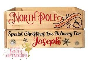 PERSONALISED Christmas Eve Box Crate DIY Personalised Vinyl Decal Sticker