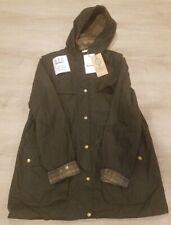 Barbour Women's Durham Lightweight Jacket, 4 Oz Wax, Olive, US Size 14, NWT $429