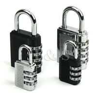 Top Quality 4 Dial Combination Padlock Locker Door Toolbox Luggage Suitcase Lock