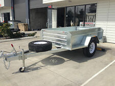 7x4 OFFROAD BRAKED 1400KG RATED GALVANISED BOX TRAILER CAMPER 4X4 HEAVY DUTy