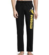 Funny Pajama Pants Lounge Don't Work On Sundaes Sundays Banana Novelty Mens M-XL