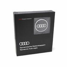 Original Audi Dynamische Nabenkappen 4M8071006A Nabendeckel Schwarz Audi Ringe