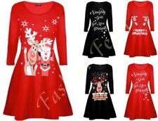 Christmas Cowl Neck Long Sleeve Dresses for Women